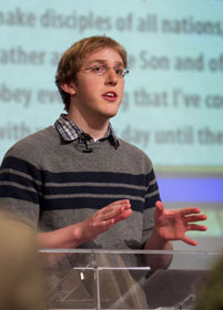 Young adult leader Ben Boruff talks about the church's struggle to reach young people.