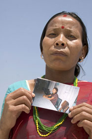 This desperate mother traveled from her village in Nepal to Mumbai, India, hoping to find and rescue her teenage daughter who was trafficked into an Indian brothel. She pledged to stay in Mumbai