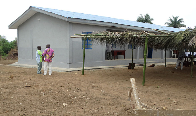 The new United Methodist primary school in Sayllu, Sierra Leone, will be ready to receive students at the beginning of the school year in September. Photo by Phileas Jusu, UMNS.