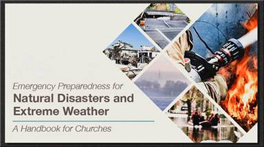 United Methodist Insurance, a part of the General Council on Finance and Administration, has put together a free, downloadable booklet on how churches can prepare for natural disasters and extreme weather. Artwork courtesy of GCFA.