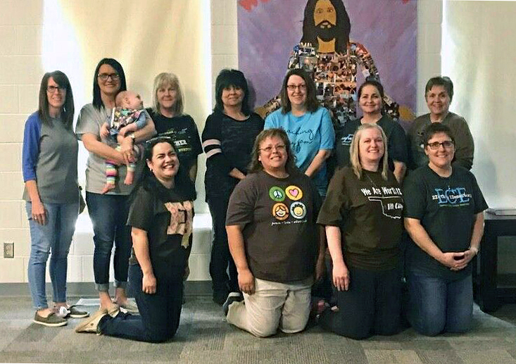 Many of the day camp teachers at Elk City United Methodist Church in Oklahoma City are teachers who were protesting for two days. Photo courtesy of the Rev. Terry Koehn.