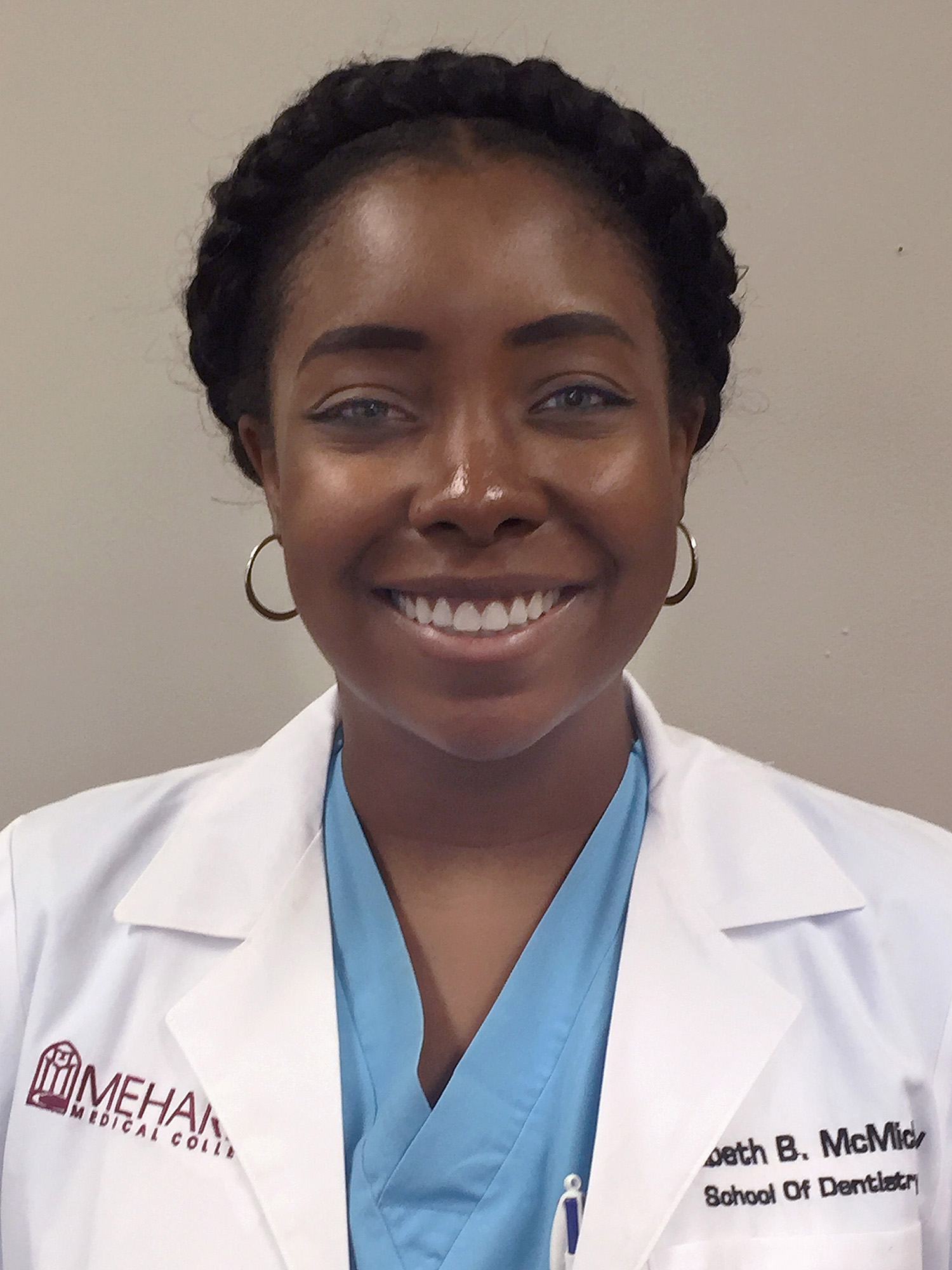 Elizabeth B. McMichael is a senior dental student at Meharry Medical College. Photo by Sandra Long Weaver.