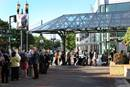 People wait in a security screening line to enter the 2016 United Methodist General Conference in Portland, Ore. There will be no registration fees for the 2019 special General Conference. But visitors will be asked to pay $7-10 for badges required by venue security. File photo by Kathleen Barry, UMNS.