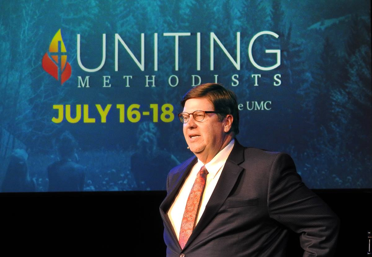 The Rev. Stan Copeland is pastor of Dallas' Lovers Lane United Methodist Church, which hosted the July 16-19, 2018, meeting of the Uniting Methodists. Photo by Sam Hodges, UMNS