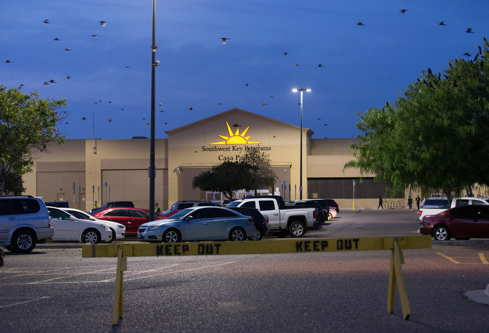 Casa Padre, housed in a former Walmart, is the largest immigration detention center in the U.S. Photo by Mike DuBose, UMNS.