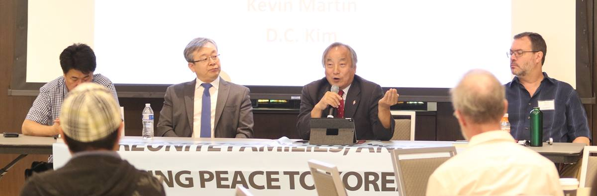 Bishop Hee-Soo Jung (second from right) presents at Korea Peace Festival and Vigil 2018 at Foundry United Methodist Church, Washington DC. Photo by Thomas Kim, UMNS