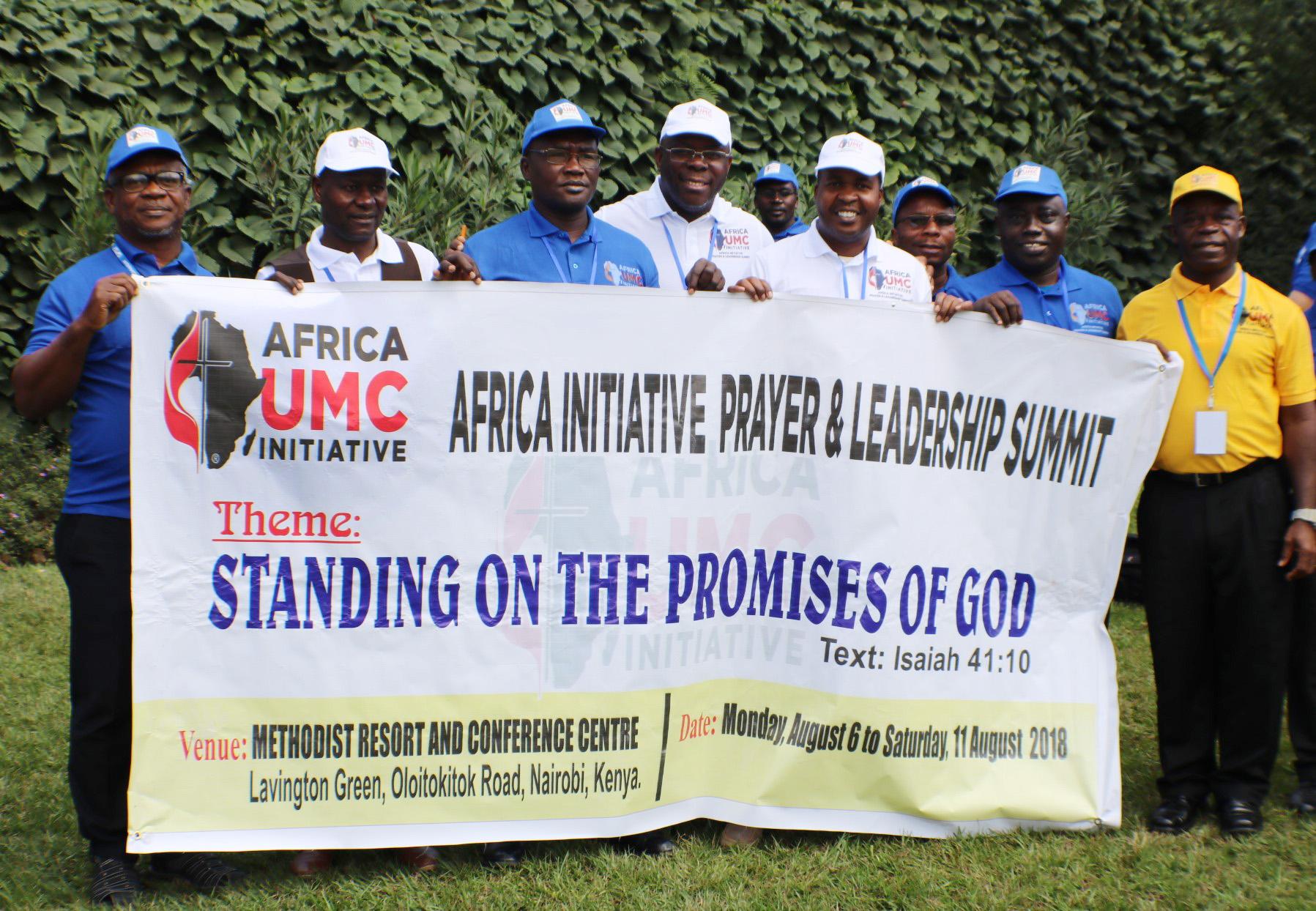 Les membres de l'équipe de direction de l'Initiative Afrique se réunissent en 2018 à Nairobi, au Kenya. Photo de Julu Swen, UMNS.