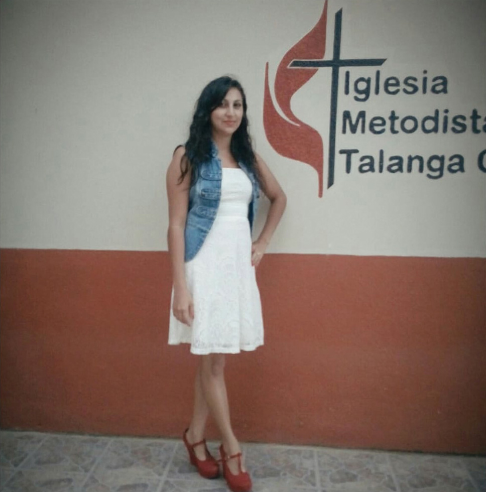 """Kelyn Zuniga says that when her husband migrated to the United States to better support their family, the people of Central United Methodist Church in Talanga, Honduras, helped her and her three children adjust. """"I felt peace,"""" she said. """"The congregation embraced us."""" Photo courtesy of Kelyn Zuniga."""