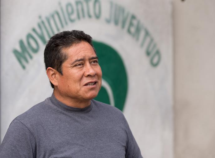 José María García Lara is director of the Movimiento Juventud 2000 shelter. Photo by Mike DuBose, UMNS.