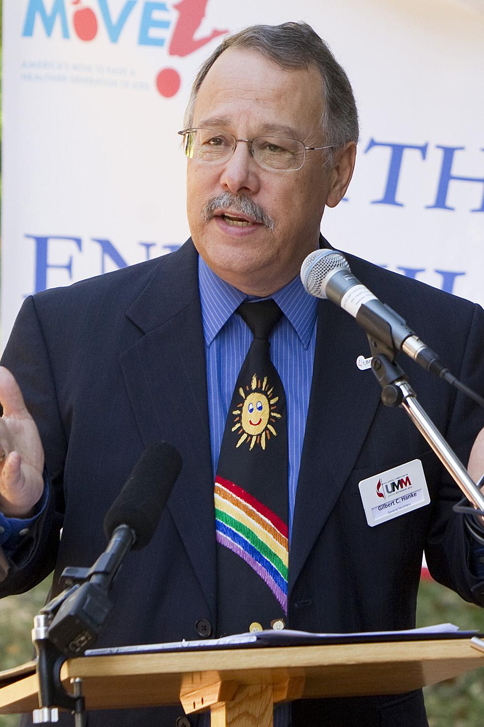 Gilbert Hanke, top staff executive of United Methodist Men. 2012 file photo by Mike DuBose, UMNS