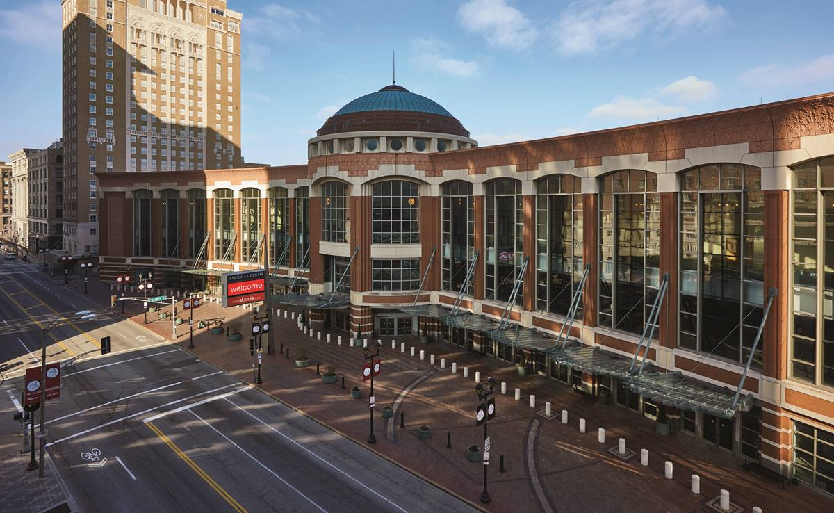 The 2019 special session of the General Conference will be held in The Dome, part of the America's Center Convention Complex in St. Louis. A theologically diverse group of clergy and laity urges General Conference delegates to pass a gracious exit plan for churches. Photo by Dan Donovan, courtesy of the St. Louis Convention & Visitors Commission. All rights reserved.