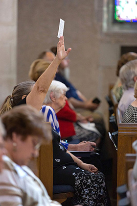 People poured into First United Methodist Church in Montgomery, Ala., on a hot summer Sunday afternoon to ask questions about the future of The United Methodist Church. Photo by Luke Lucas, AWF Communications Specialist.