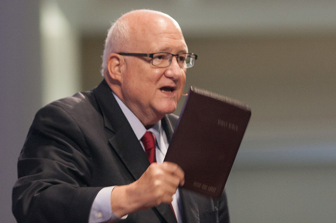 Bishop J. Michael Lowry, Central Texas Conference, was one of three bishops who spoke at the Wesleyan Covenant Association in Marrietta, Ga. Photo by Kathy L. Gilbert UMNS.