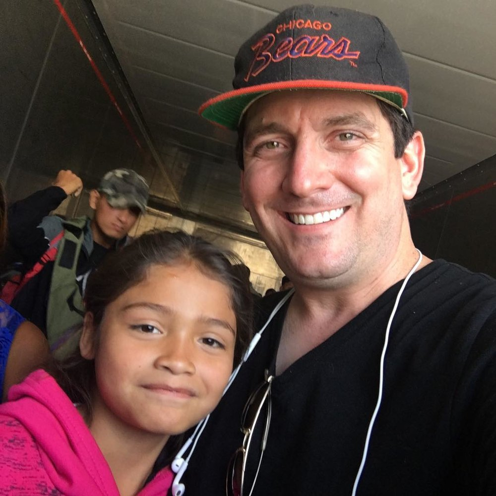 The Rev. Gavin Rogers, an associate pastor of Travis Park United Methodist Church, San Antonio, recently traveled to Mexico City to join the migrant caravan as the group continued its journey journey. Photo courtesy of Gavin Rogers.
