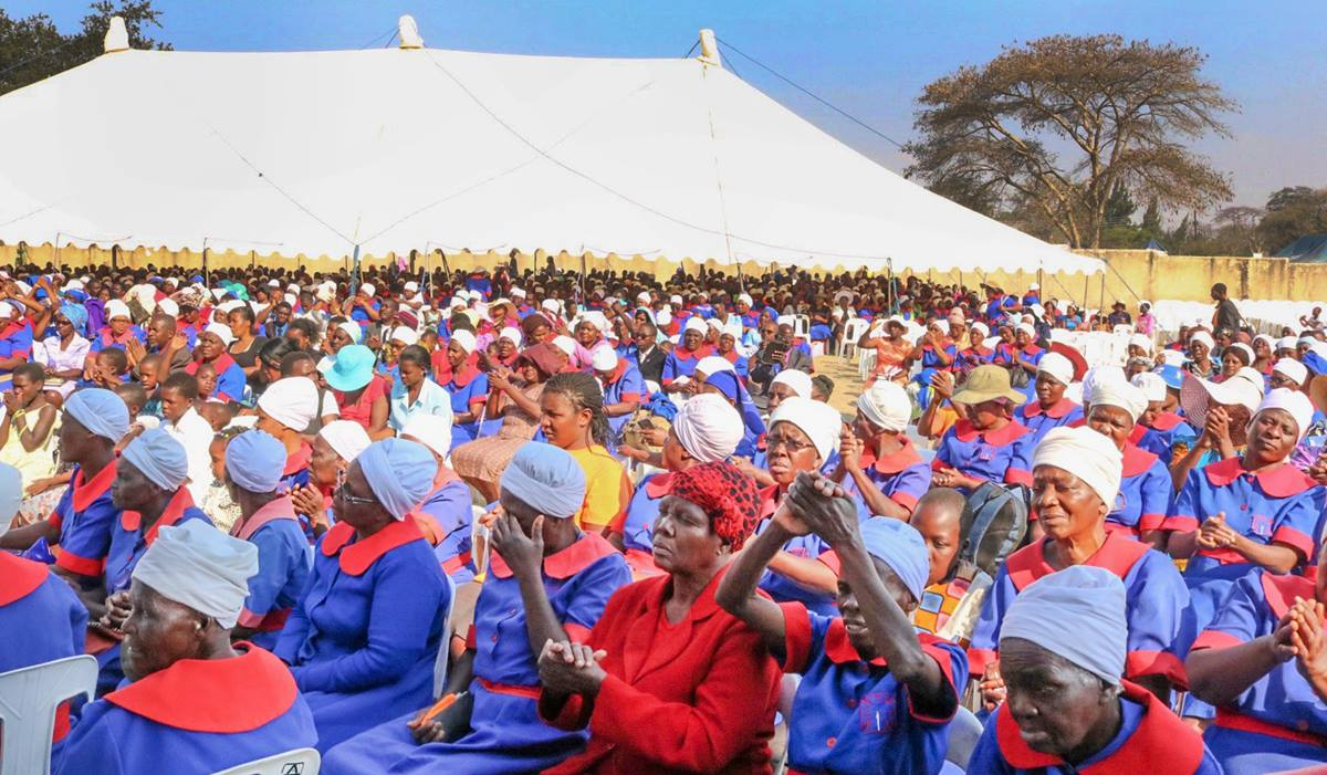 More than 6,500 people attended the annual women's convention at Clare Camping Ground in Rusape, Zimbabwe. The convention program includes teaching on health or social issues, and this year the topic was cervical cancer. Photo by Eveline Chikwanah, UMNS.