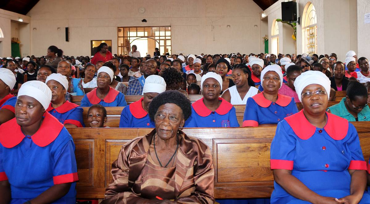 The congregation at Inner-City United Methodist Church in Harare, Zimbabwe, has recommitted to helping stop the AIDS epidemic by taking part in the Common Voice Initiative advocacy program. Photo by Priscilla Muzerengwa for UMNS.
