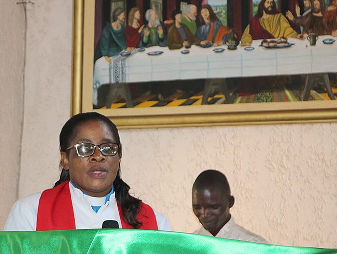 The Rev. Fatima Gaikayi, associate pastor at Inner-City United Methodist Church in Harare, says social and cultural issues have been major barriers to fighitng the AIDS epidemic. Photo by Priscilla Muzerengwa for UMNS.