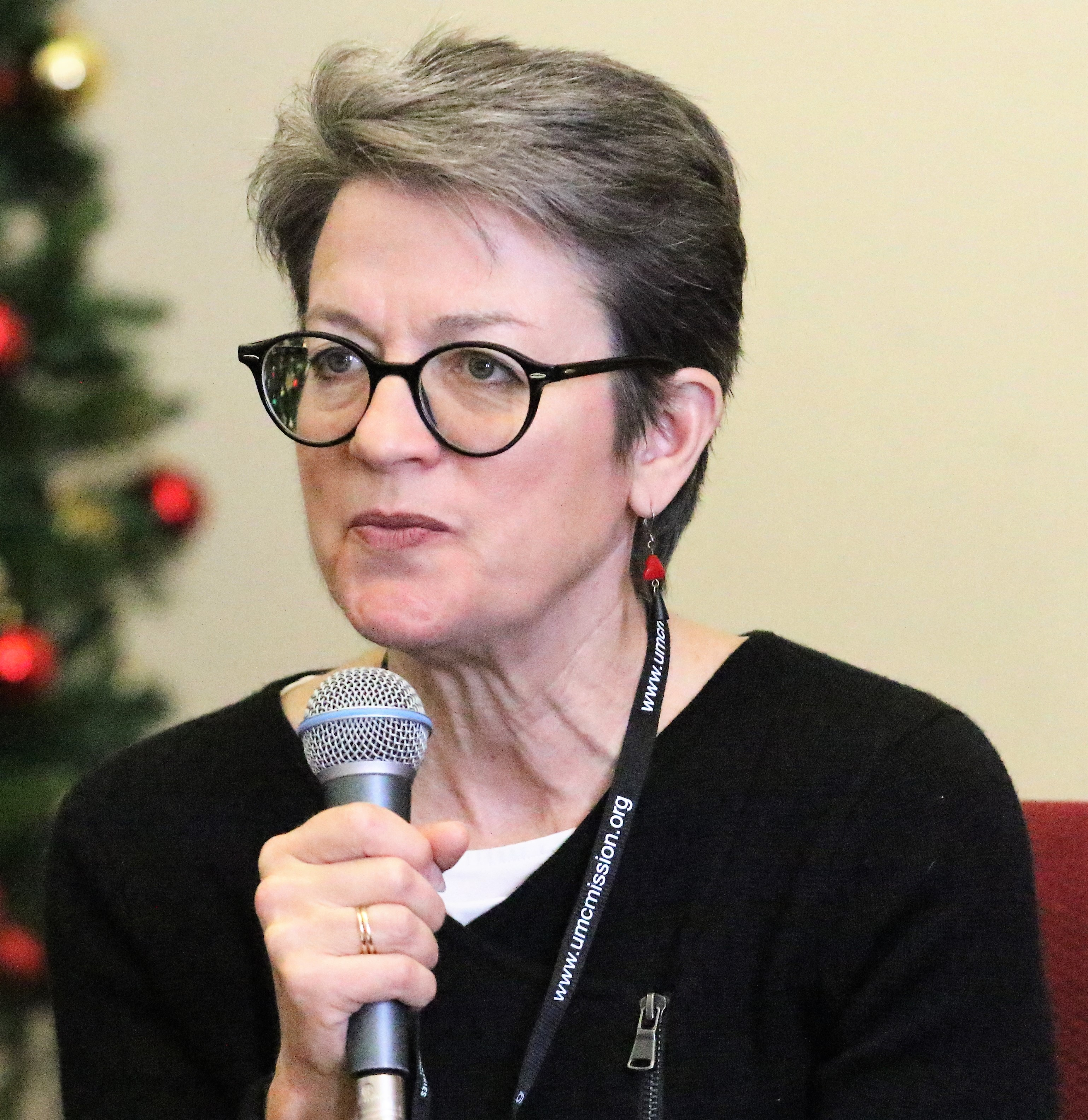 Bishop Sally Dyck said she wanted to hear the concerns of Korean United Methodists at the meeting. Photo by Thomas Kim, UMNS.