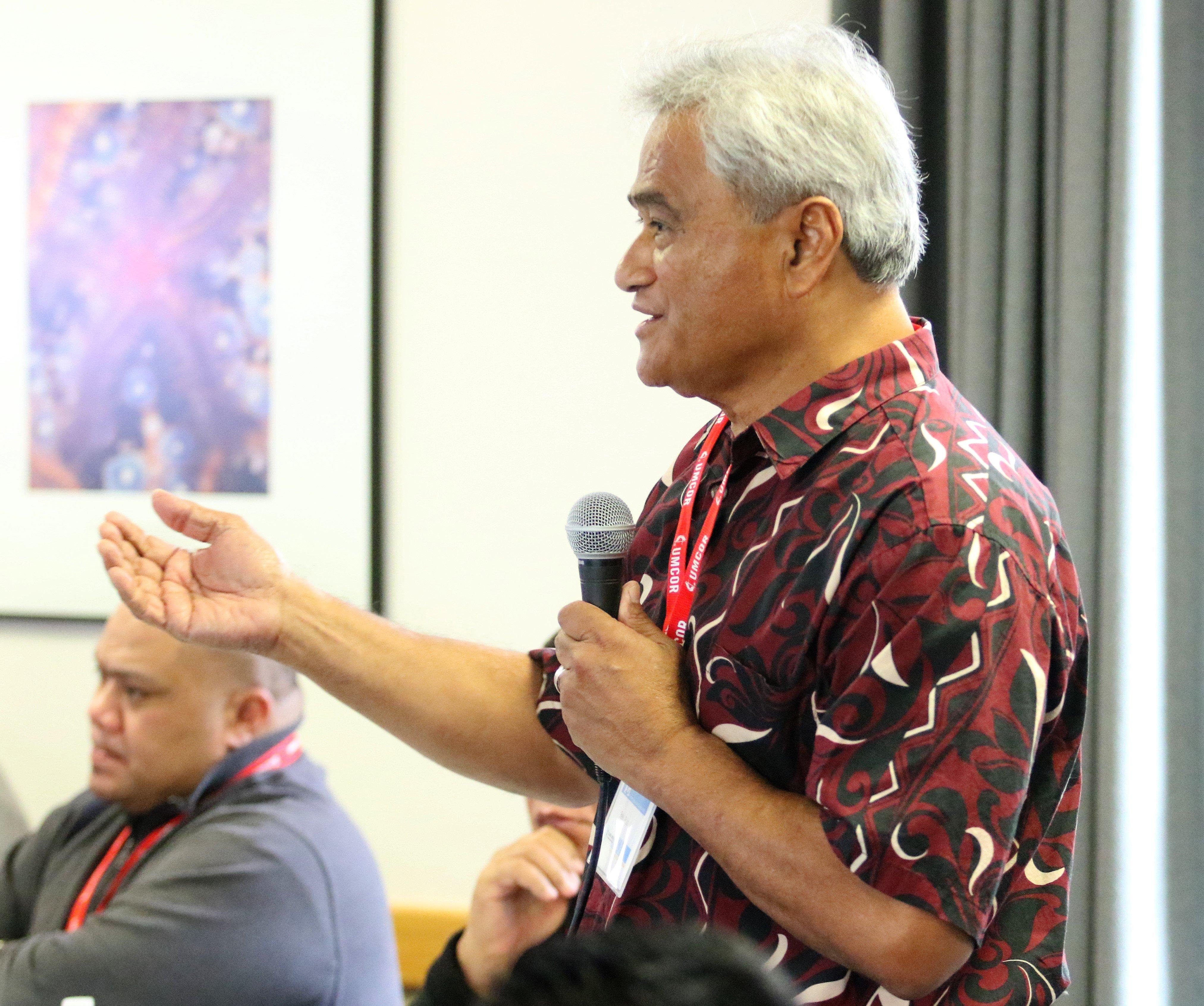 The Rev. Piula Alailima Pastor of Wesley United Methodist Church, Honolulu. Photo by Thomas Kim, UMNS.