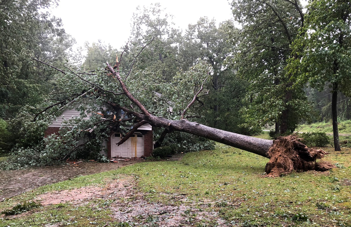 Thousands were affected by Hurricane Florence, and damage in North Carolina extended to the parsonage of the Rev. Thomas M. Greener. Photo courtesy of Thomas M. Greener.