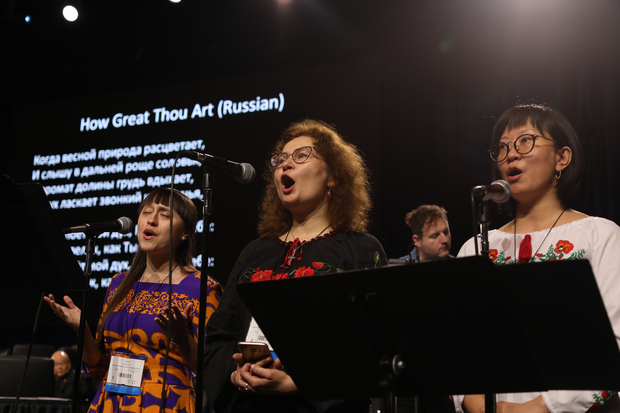 Delegates from the Philippines and Southeast Asia sing during a day of prayer at the 2019 United Methodist General Conference in St. Louis. Photo by Mike DuBose, UMNS.