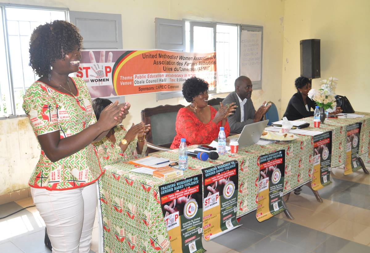The United Methodist Women Association Cameroon hosts a workshop in Obala, Cameroon, to address gender-based violence in the country. Photo by Collette Ndobe.