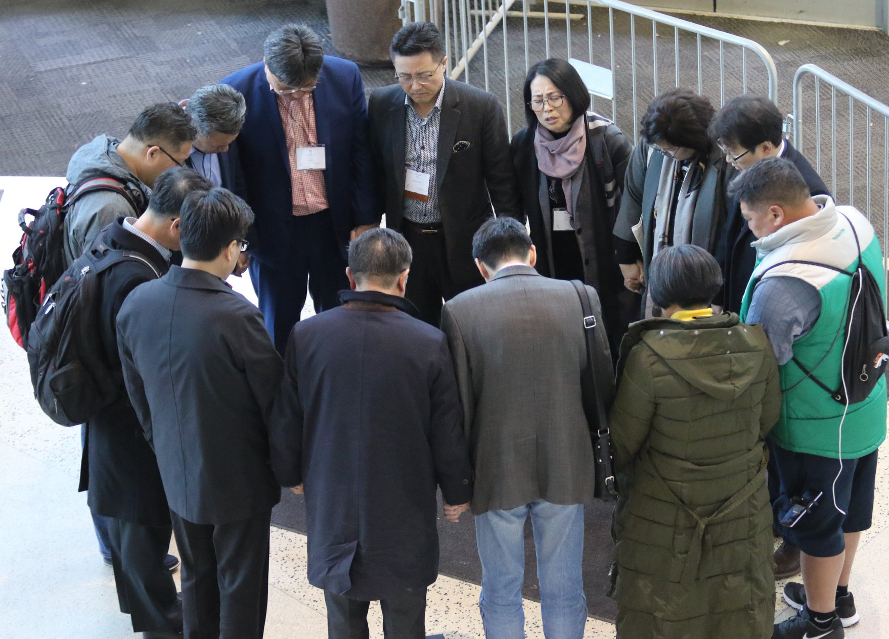 Korean United Methodists gather in prayer during the 2019 General Conference in St. Louis. Photo by the Rev. Thomas Kim, UMNS.