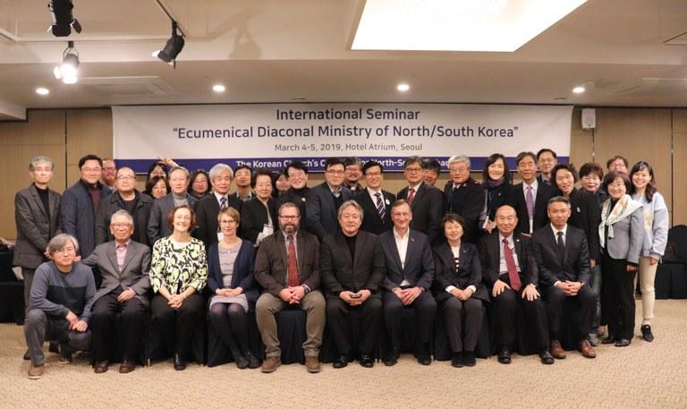 한국과 북한의 에큐메니컬 평신도 사역에 대한 세미나 참가자. 사진제공, 남북 협력을 위한 한국 교회 연합.