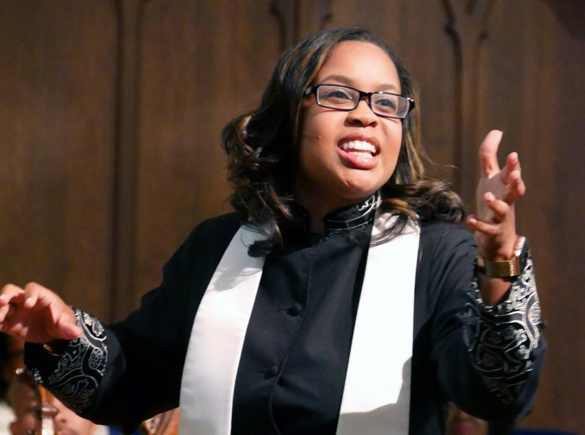 The Rev. Jasmine Smothers, lead pastor of Atlanta First United Methodist Church, has been among the conveners of recent meetings by centrists and progressives to discuss the denomination's future. Photo by Les Scarbrough, Atlanta First United Methodist Church.