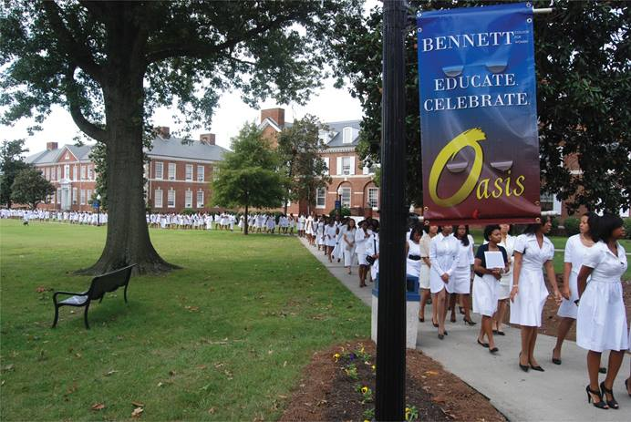 This photo, taken in 2010, shows Bennett College, a women-only school in Greensboro, N.C. Photo courtesy of United Methodist Board of Higher Education and Ministry.