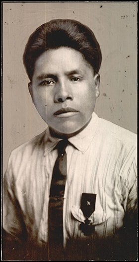 Joseph Oklahombi served as a Choctaw code talker during World War I. Photo courtesy of the Oklahoma Historical Society.