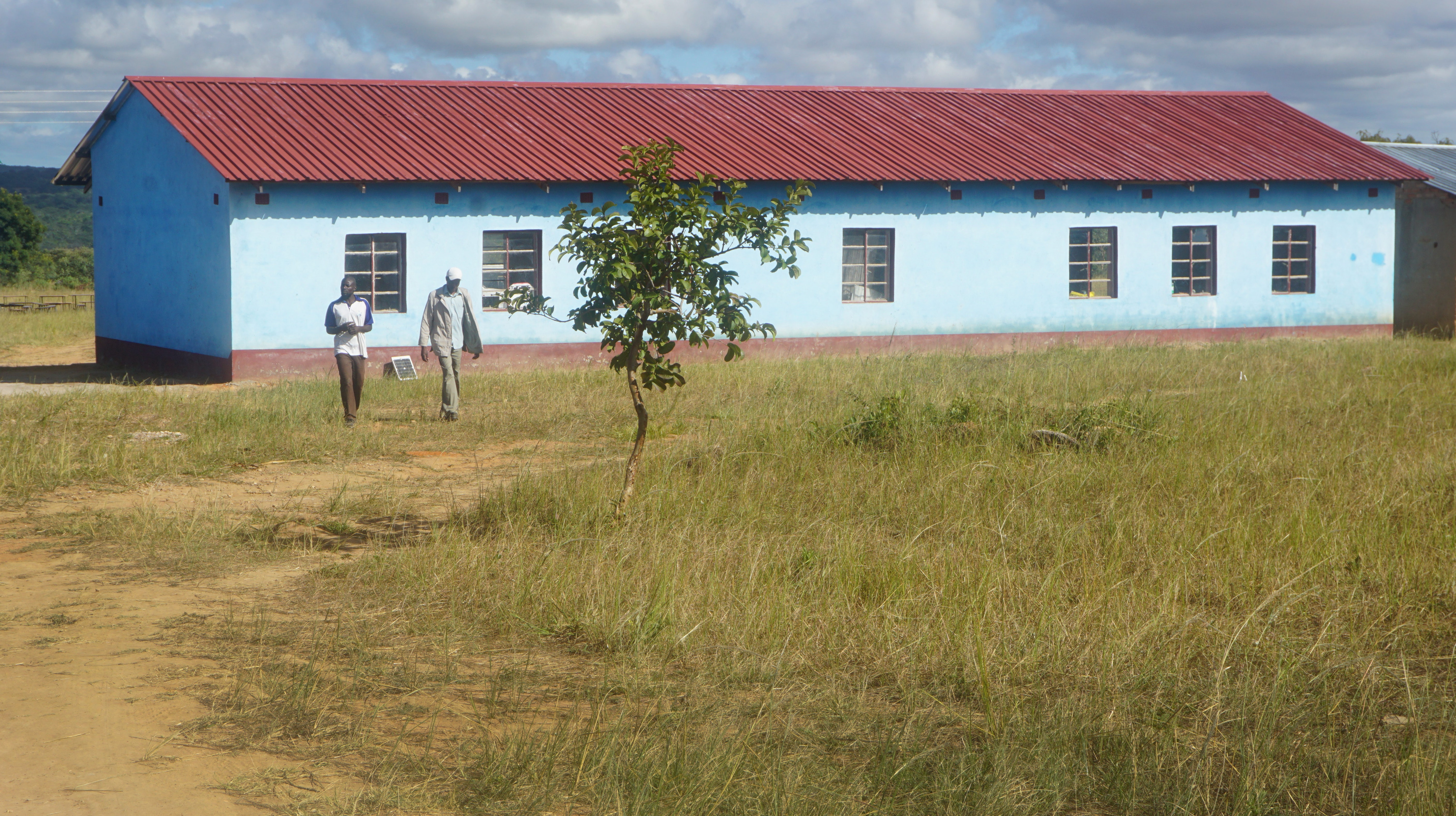 View of new construction at Ngundu Primary School in Buhera, Zimbabwe.  The school, which was on the verge of closing, now has five new classrooms, teachers' quarters and offices. Photo by Kudzai Chingwe, UMNS.