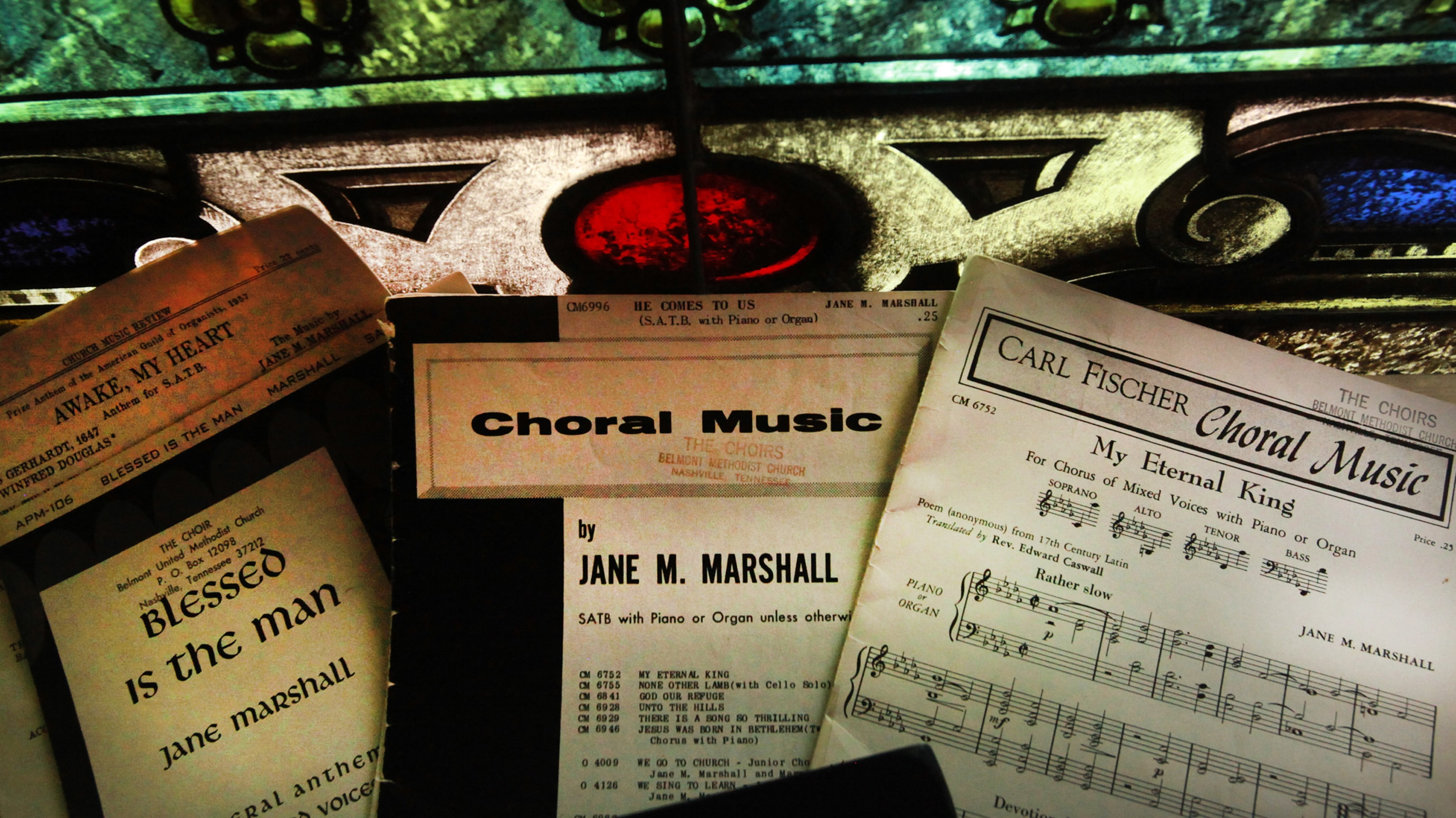 Jane Marshall's music continues to be sung by United Methodist choirs and others. Photo illustration by Kathleen Barry, UM News.