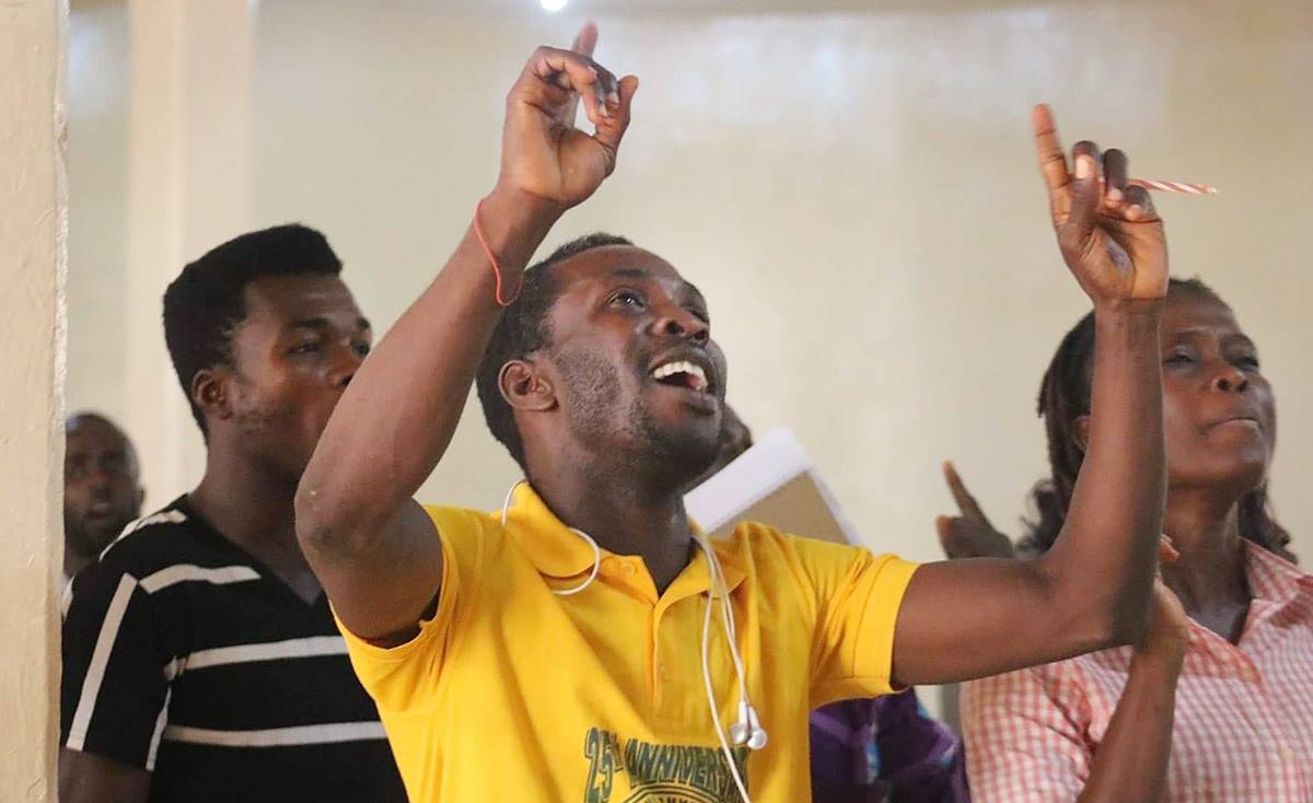Young people sing during the Next Generation Forum in Monrovia, Liberia. The May 2 event focused on the future of young people in the church. Photo by E Julu Swen, UM News.