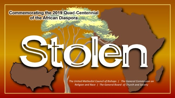 """Stolen"" is described as ""a collection of resources and engagements to commemorate the quad-centennial of the first of the African diaspora brought to the American colonies."""