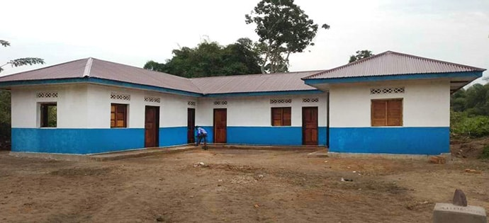 This photo shows the exterior of the health center opened by The United Methodist Church in East Congo. Photo courtesy of the Equator and Oriental Annual Conference.