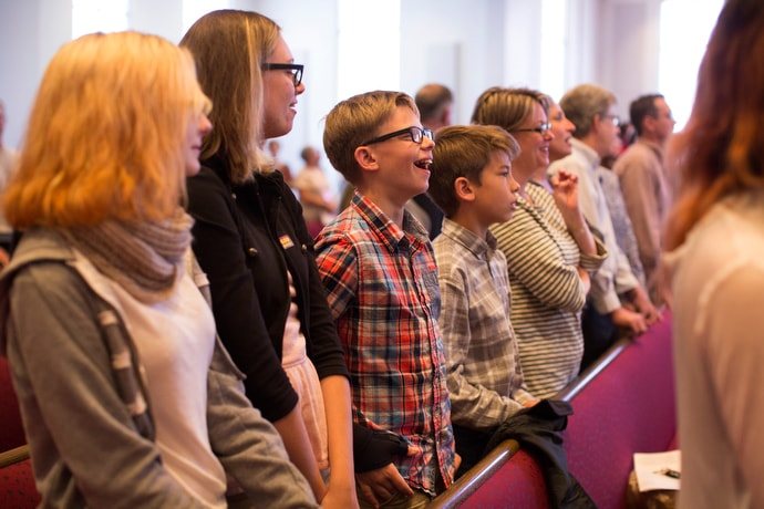 Parishioners worship at McKendree United Methodist Church in Lawrenceville, Ga., in October 2016. File photo by Kathleen Barry, UM News.