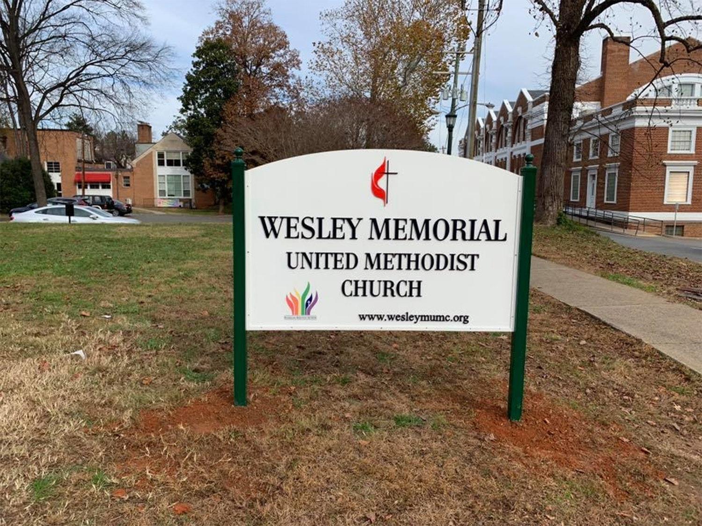 Iglesia Metodista Unida Wesley Memorial en Charlottesville, Virginia. Foto: Cortesía de la Iglesia Metodista Unida Wesley Memorial.