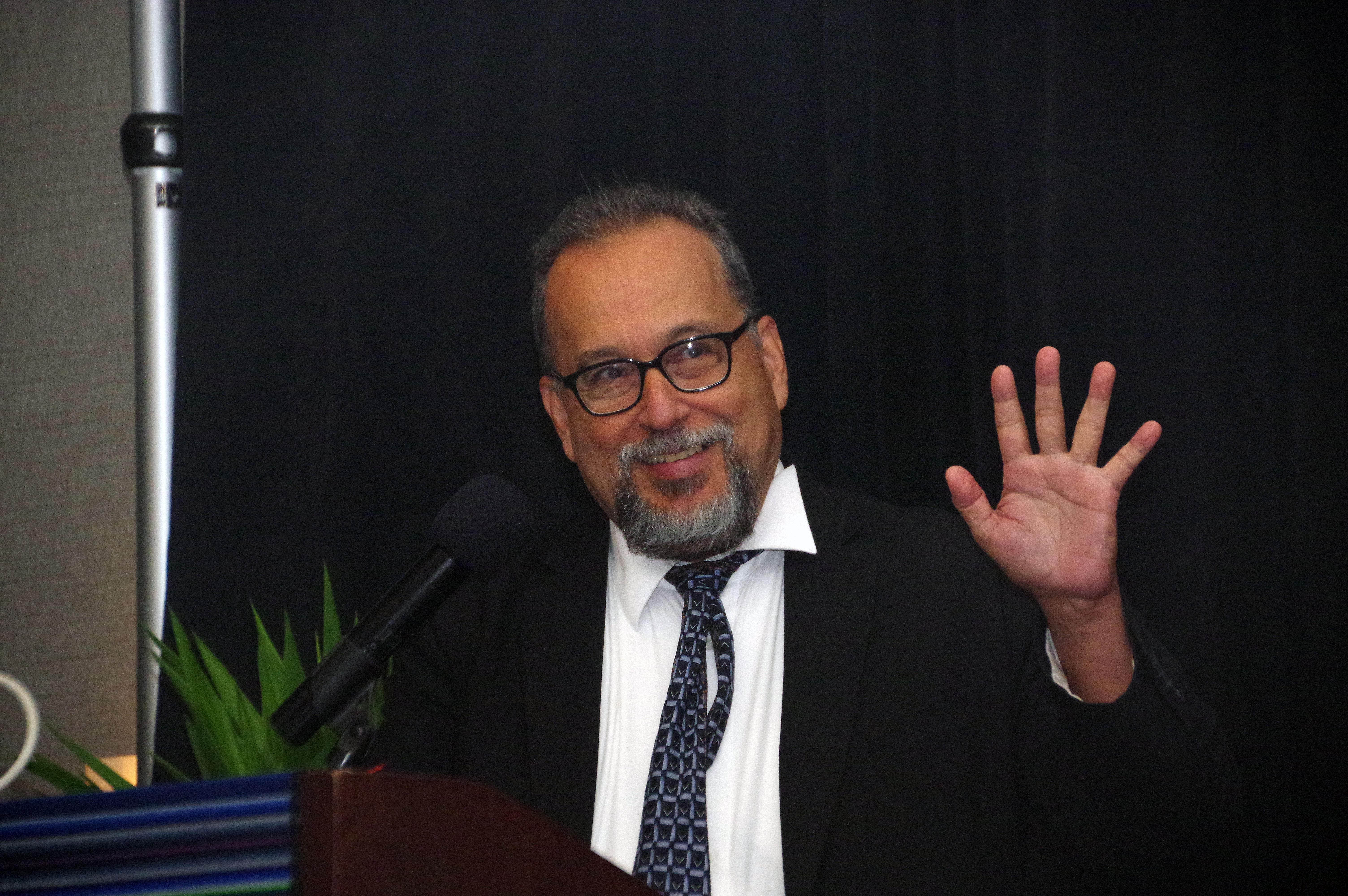 """El Rev. Dr. Eriberto López Rodríguez: """"Donde quiera se articula la idea de una utopía, allí está Jesús, inspirando la visión y con manos extendidas para ayudarnos a construirla"""". Foto por Rev. Gustavo Vasquez, Noticias MU."""
