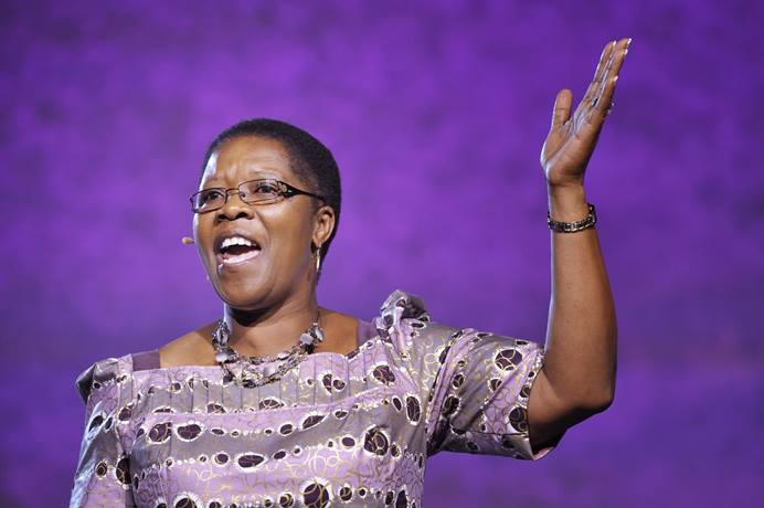 Betty Spiwe Katiyo of Zimbabwe delivers one of three Laity Addresses to the April 25 session of the 2012 United Methodist General Conference in Tampa, Florida. Katiyo, a longtime lay leader in The United Methodist Church, died suddenly Aug. 10 after leaving the Commission on General Conference meeting in Lexington, Ky. File photo by Paul Jeffrey, UM News.