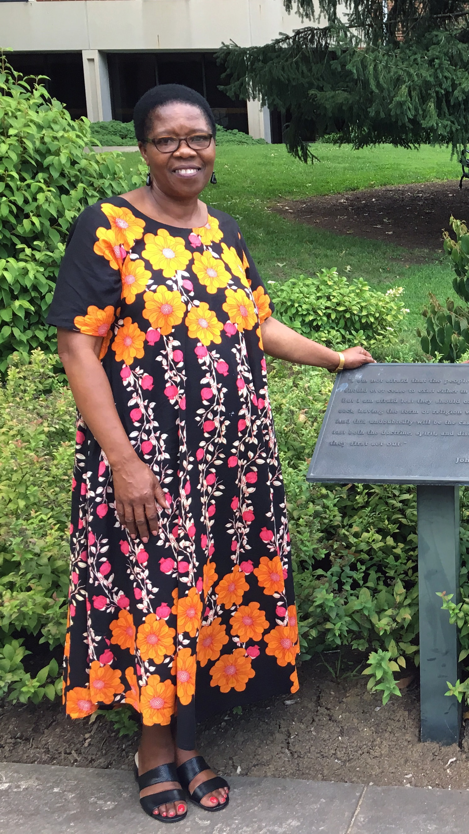 Betty Spiwe Katiyo, a longtime lay leader in The United Methodist Church, visits Asbury Theological Seminary in Lexington, Ky., on Aug. 9.  She died suddenly Aug. 10 after the Commission on General Conference meeting in Lexington. Photo by the Rev. Beth Ann Cook, Indiana Conference.