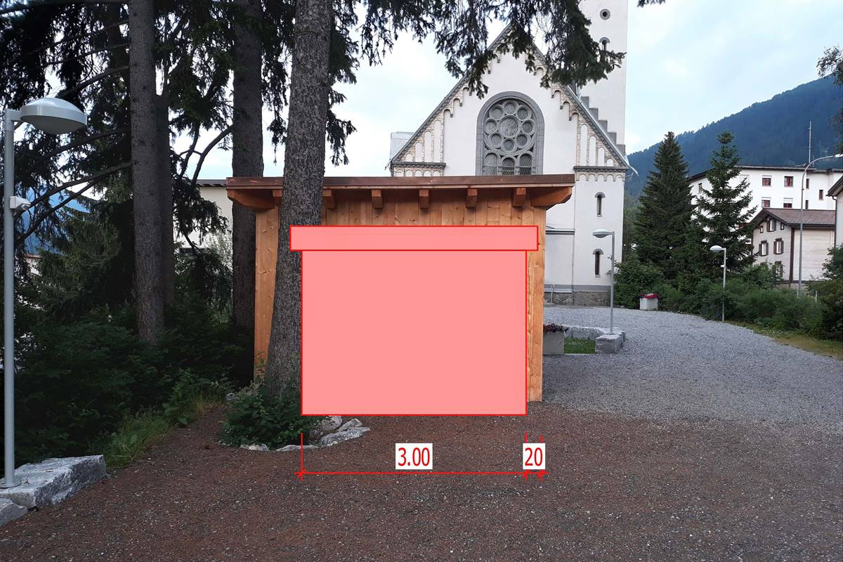 """The United Methodist Church in Davos, Switzerland, started offering free food in June 2019 in a joint effort with a local Pentecostal parish to help eliminate food waste. The """"Save Our Food"""" program plans to expand its ministry by installing a refrigerator next to the United Methodist church building, as shown in the illustration. Photo by the Rev. Stefan Pfister."""