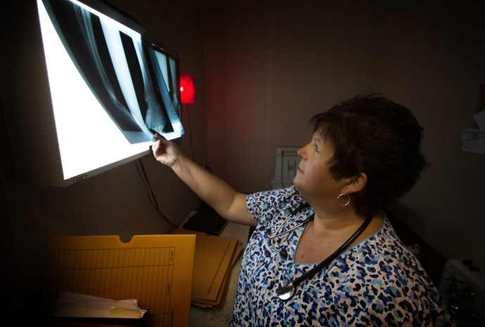 The Rev. Debbie Williams is an X-ray technician and a licensed local pastor in The United Methodist Church. Photo by Mike DuBose, UMNS.
