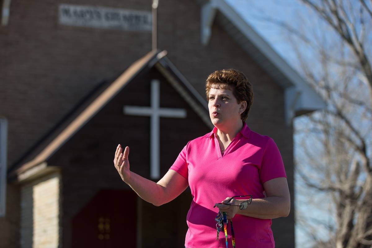 The Rev. Gina Stewart, a former police officer, is pastor of Mary's Chapel United Methodist Church in Philippi, W.Va. Photo by Mike DuBose, UMNS.