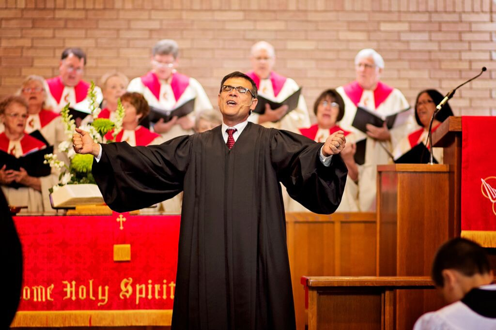 """The Rev. Arturo """"Artie"""" Cadar is a full-time local pastor recently appointed to lead CrossRoads United Methodist Church in Houston. CrossRoads was created by the merger of an aging, Anglo congregation and a younger, primarily Hispanic congregation founded by Cadar. Photo courtesy of the Rev. Arturo Cadar."""