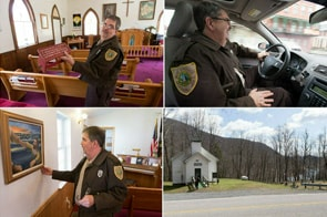 The Rev. Bradley Barton is a correctional officer at the Tygart Valley Regional Jail in Belington, W.Va., and a licensed local pastor in The United Methodist Church. Photo by Mike DuBose, UMNS.