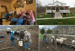 The Rev. Earl Bible, 78, has pastored rural churches in West Virginia for more than 30 years. Bible and his wife Doris raise livestock and keep a vegetable garden on their farm near Seneca Rocks. Photos by Mike DuBose, UMNS.