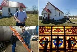 The Rev. Don Rush, 57, worked his way up from welder to plant manager at Sistersville (W.Va.) Tank Works. He has been a bivocational pastor in The United Methodist Church for nine years. Photos by Mike DuBose, MNS.