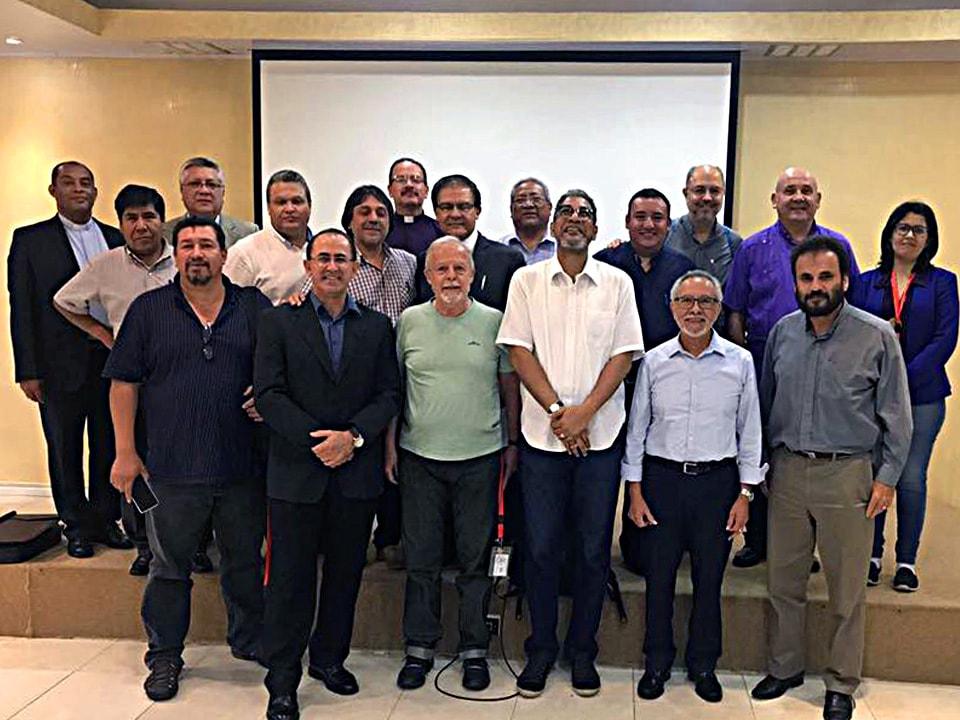 Obispos/as de las iglesias evangélicas metodistas de América Latina y el Caribe. Foto cortesía de CIEMAL.