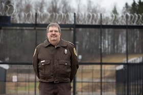 The Rev. Bradley Barton is a correctional officer at the Tygart Valley Regional Jail in Belington, W.Va., and a licensed local pastor in The United Methodist Church. Photo by Mike DuBose, UM News.
